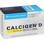 CALCIGEN D Citro 600 mg/400 I.E. Kautabletten