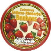 Echt Sylter Erdbeer-Rhabarber Bonbons zuckerfrei