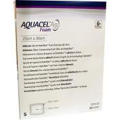 AQUACEL Ag Foam adhäsiv 25x30cm 5 ST günstig im Preisvergleich