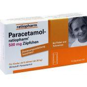 Paracetamol-ratiopharm 500mg Zäpfchen