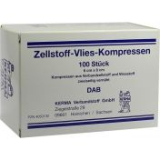 ZELLSTOFF VLIES-KOMPRESSEN 6X8CM UNSTERIL