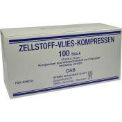 ZELLSTOFF VLIES-KOMPRESSEN 12LG.10X10CM UNSTERIL