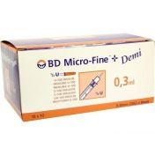 BD Micro-Fine+ U100 Demi 0.3x8mm