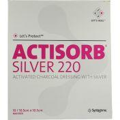 ACTISORB 220 SILVER 10.5x10.5cm steril