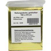 Rettungsdecke gold/silber 160x210cm