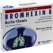 BROMHEXIN 8 BERLIN CHEMIE