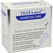 Testamed GlucoCheck Plus Blutzuckermessstreifen
