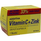 ADDITIVA Vitamin C + Zink Depotkaps.Aktionspackung