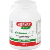 MEGAMAX Vitamine A-Z+Q10+Lutein