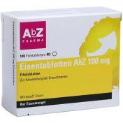 Eisentabletten AbZ 100 mg Filmtabletten günstig im Preisvergleich
