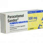 Paracetamol Sandoz 500mg Tabletten