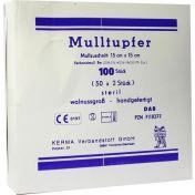 MULLTUPFER HANDGEF.STERIL WALLNUSSGROSS 15x15CM