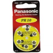 Batterie f. Hörgeräte Panasonic PR 10