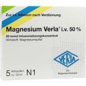 Magnesium Verla i.v.50% Infusionslösungskonzentrat