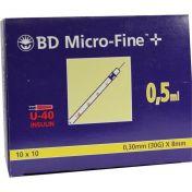BD Micro-Fine+ U40 Ins.Spr.8mm