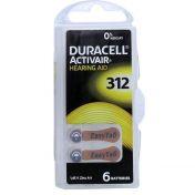 Batterie für Hörgeräte Duracell 312