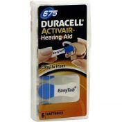 Batterie für Hörgeräte Duracell 675