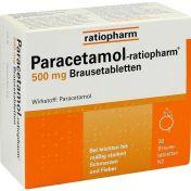 Paracetamol-ratiopharm 500mg Brausetabletten