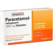Paracetamol-ratiopharm 1000 mg Tabletten