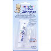 nenedent Erstes Zähnchen Baby Zahncreme+Fingerling