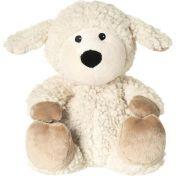 Wärme-Stofftier Schaf Wolle beige herausn. Kiss