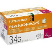 TERUMO NANOPASS 34 Penkanüle 34G 0.18X4mm