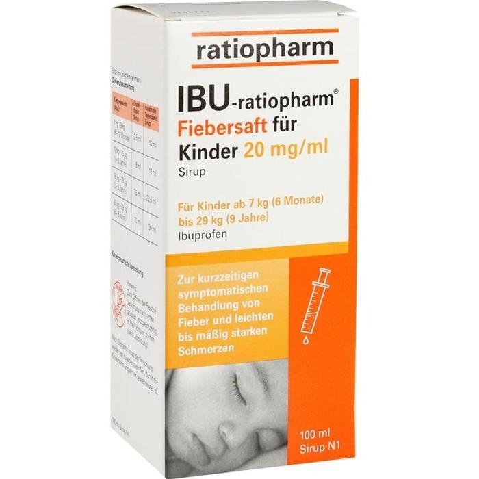 IBU-ratiopharm 2% Fiebersaft für Kinder, 20 mg/ ml Sirup