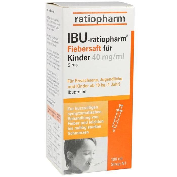 IBU-ratiopharm 4% Fiebersaft für Kinder, 40 mg/ ml Sirup