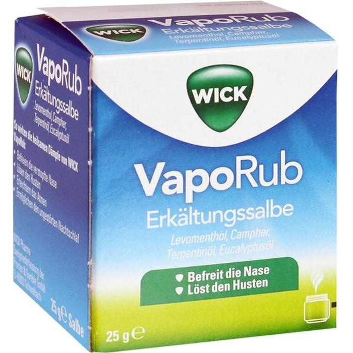 wick vaporub erk ltungssalbe 915995 25 g. Black Bedroom Furniture Sets. Home Design Ideas
