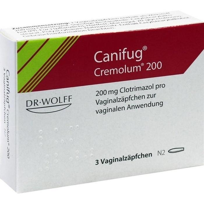 Canifug Cremolum 200 Vaginalzäpfchen 3ST günstig kaufen im