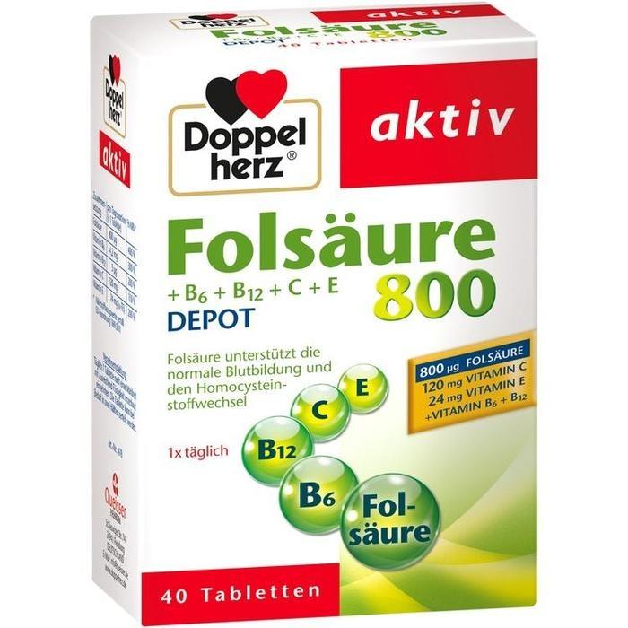 Doppelherz Folsäure 800+B-Vitamine (40 Stück)