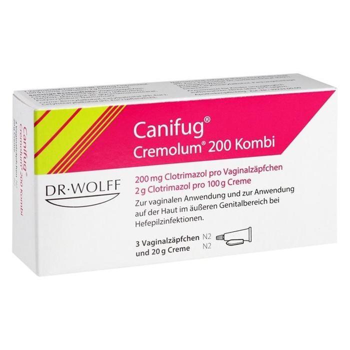 Canifug Cremolum 200 Kombi 3 Zäpfchen +20 g Creme bei