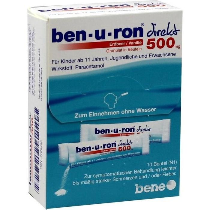 ben-u-ron® direkt Erdbeer/Vanille 500 mg Granulat in Beuteln