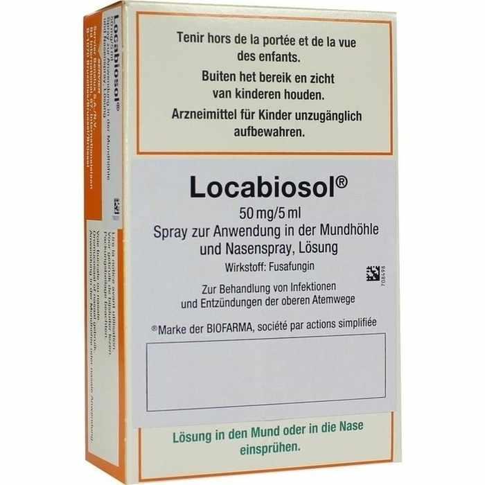 Anwendung locabiosol spray Locabiosol 0.125