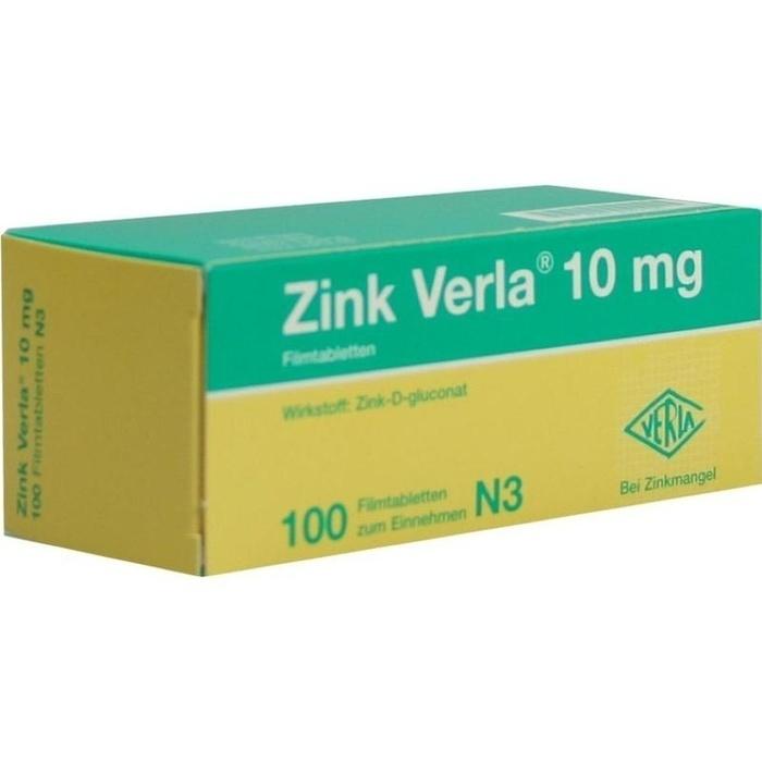 ZINK VERLA 10MG 100 ST | Apothekenvergleich apomio.de