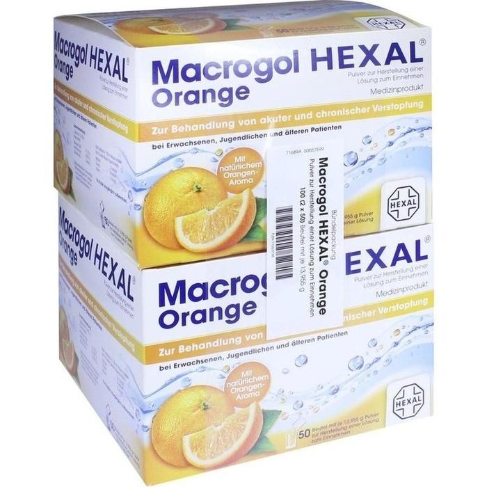 macrogol hexal orange 100 st hexal ag pzn 11553736. Black Bedroom Furniture Sets. Home Design Ideas