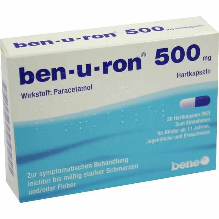 ben-u-ron 500 mg Hartkapseln