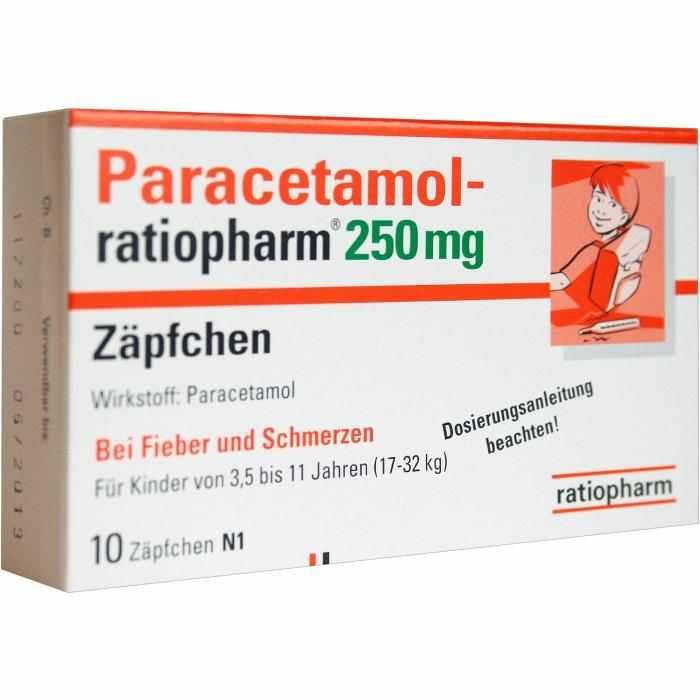 Paracetamol-ratiopharm® 250 mg Zäpfchen