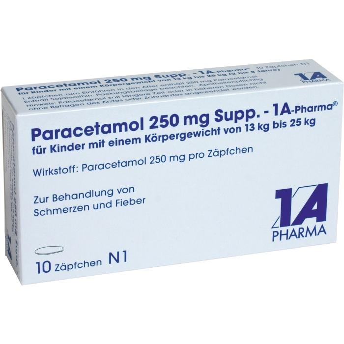 Paracetamol 250 mg Suppositorien - 1A-Pharma®