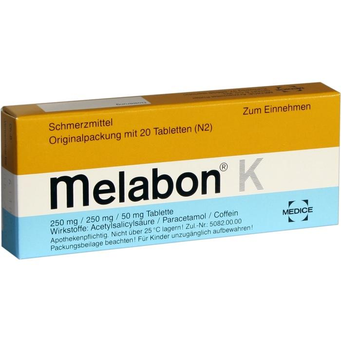 Melabon® K 250 mg/250 mg/50 mg Tabletten