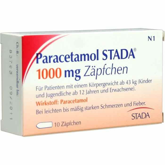 Paracetamol STADA® 1000mg Zäpfchen