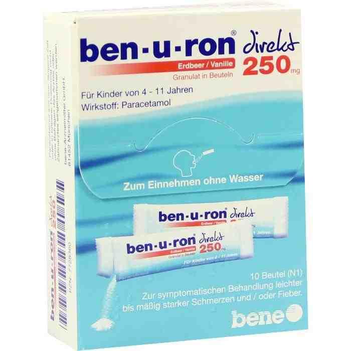 ben-u-ron® 250mg direkt Erdbeer/Vanille Granulat